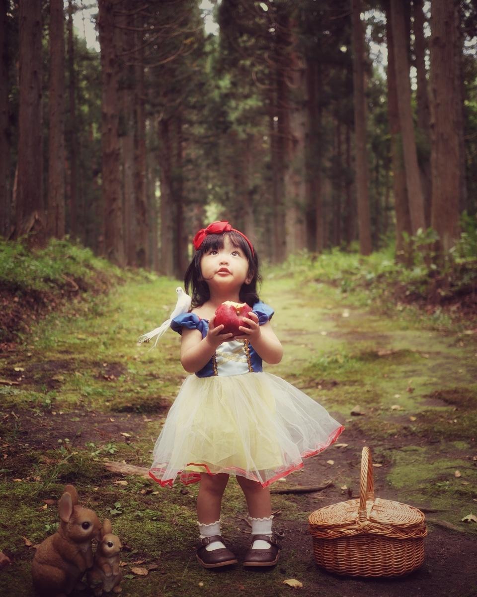 ハロウィン白雪姫コーデ